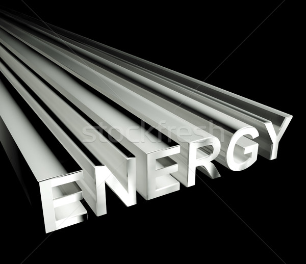 Energy Text In White As Symbol For Electricity And Strength Stock photo © stuartmiles