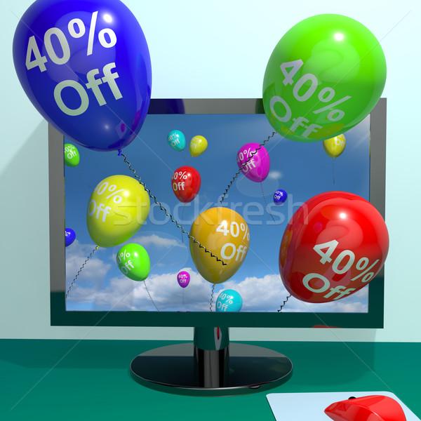 40 ballons ordinateur vente Photo stock © stuartmiles