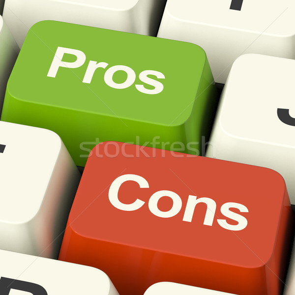Pros Cons Computer Keys Showing Plus And Minus Alternatives Anal Stock photo © stuartmiles