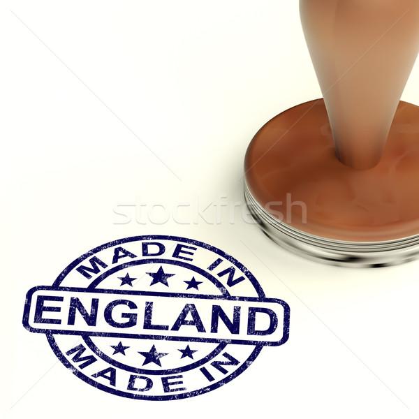 ストックフォト: イングランド · スタンプ · 英語 · 製品 · 作り出す