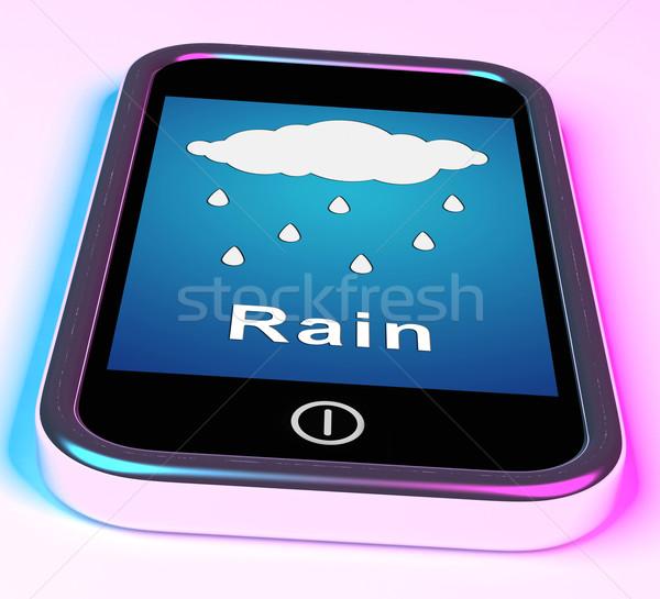Hareketli yağmur hava durumu tahmin Stok fotoğraf © stuartmiles