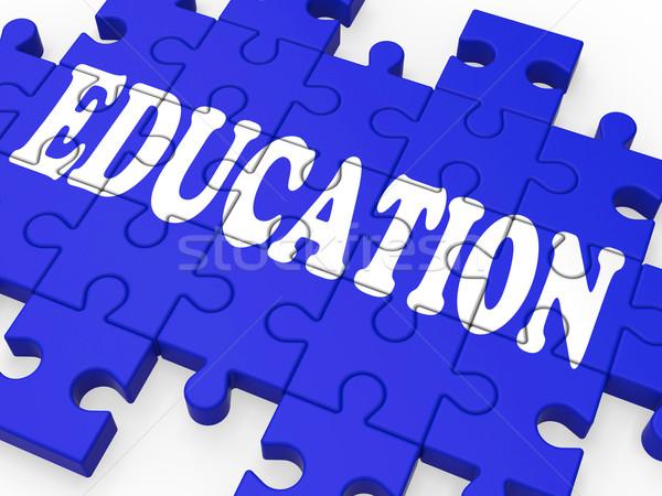 Education Puzzle Showing University Studies Stock photo © stuartmiles
