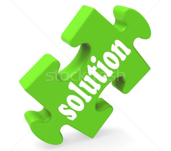 Solution Shows Success Development And Strategies Stock photo © stuartmiles