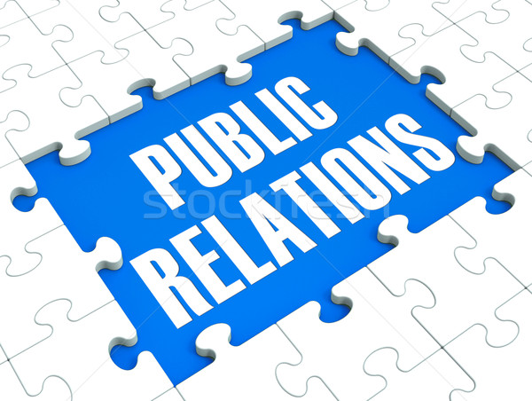 Public Relations Puzzle Shows Publicity And Press Stock photo © stuartmiles