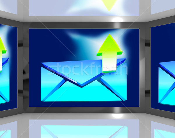 Email Sent On Screen Shows Sent Messages Stock photo © stuartmiles