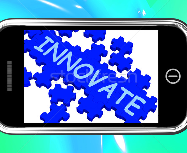 Innovate On Smartphone Shows Creativity Stock photo © stuartmiles
