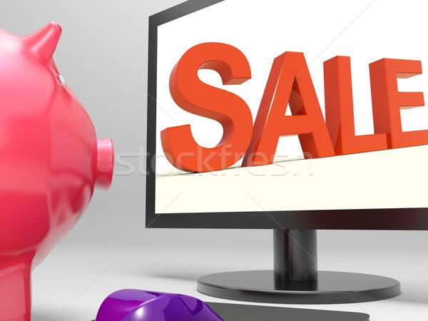 Verkoop scherm detailhandel marketing promotie tonen Stockfoto © stuartmiles