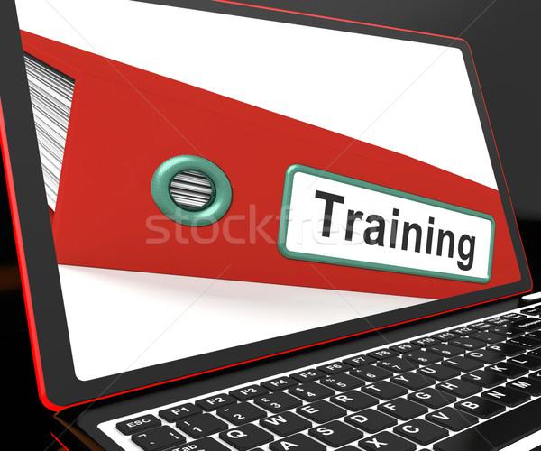 訓練 ファイル ノートパソコン コーチング 説明書 インターネット ストックフォト © stuartmiles