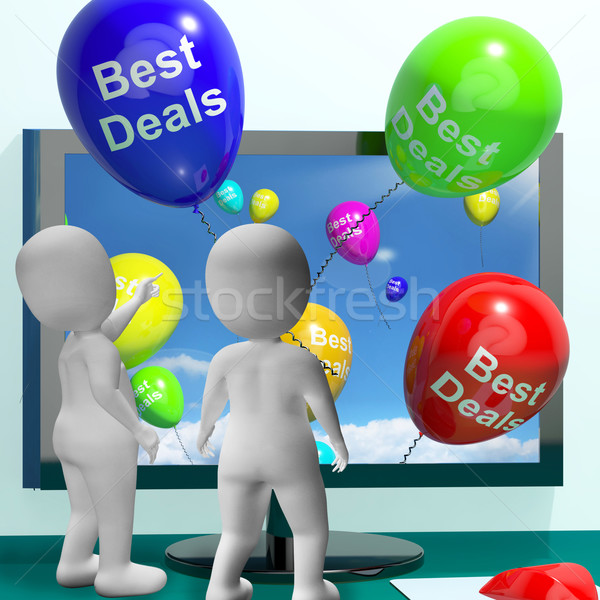 Best ballonnen online business computer Stockfoto © stuartmiles