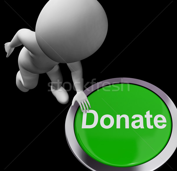 Donate Button Shows Charity Donations And Fundraising Stock photo © stuartmiles