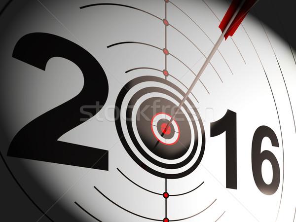 2016 Projection Target Shows Successful Future Stock photo © stuartmiles