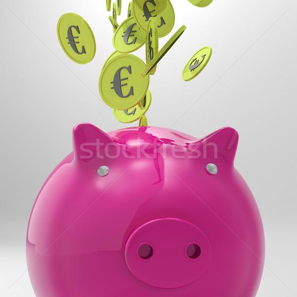 монетами европейский депозит банка Сток-фото © stuartmiles