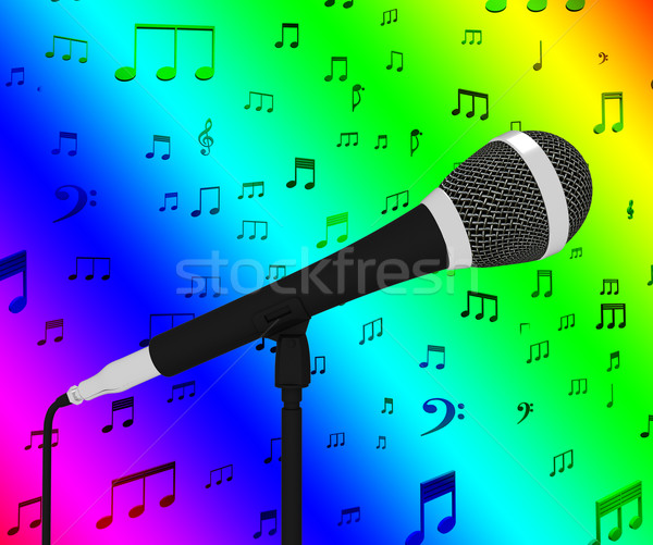 Micro notes de musique musical Photo stock © stuartmiles