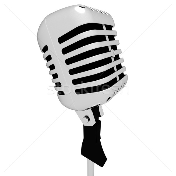 Microphone Closeup Shows Mic Concert Talent Or Show  Stock photo © stuartmiles