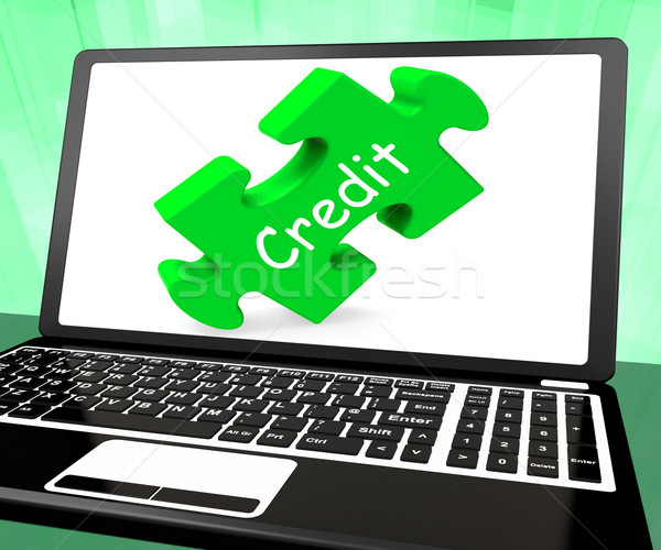 Credit Laptop Shows Finance Or Loaning For Purchasing Stock photo © stuartmiles
