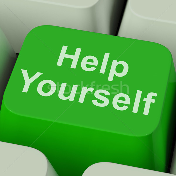 Help Yourself Key Shows Self Improvement Online Stock photo © stuartmiles