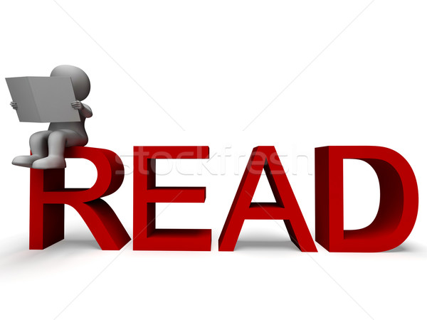 3D karakter olvas mutat értelem műveltség Stock fotó © stuartmiles