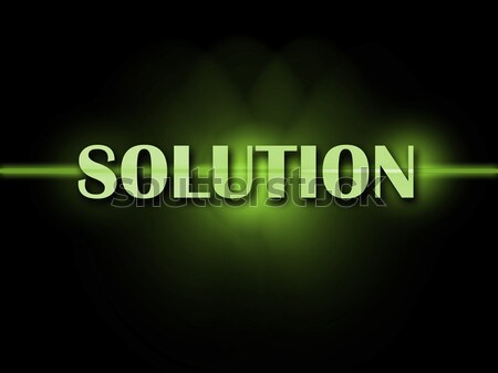 Solution Words Shows Achievement Resolution Solving And Solved Stock photo © stuartmiles