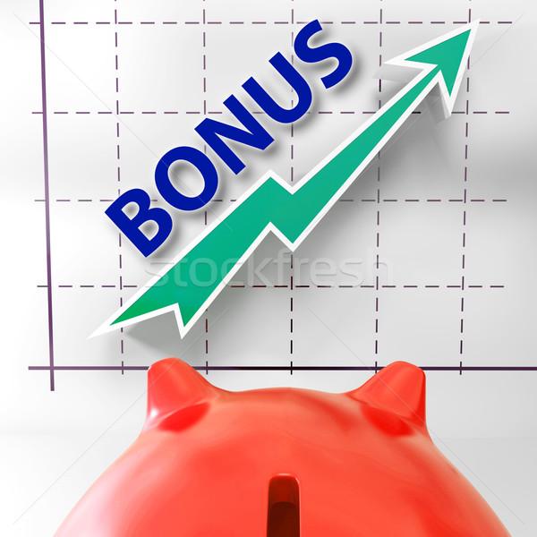 Bonus grafiek betekenis voordeel premie Stockfoto © stuartmiles