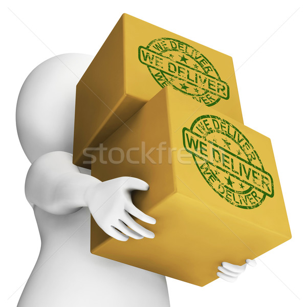 We Deliver Boxes Show Transportation And Delivery Service Stock photo © stuartmiles