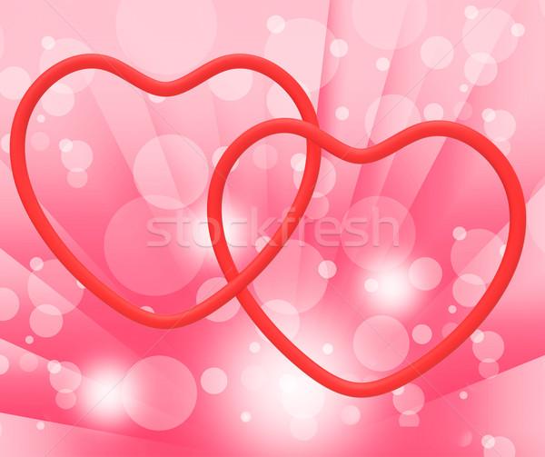 ストックフォト: リング · 心 · を見る · 愛 · エンゲージメント · 結婚指輪