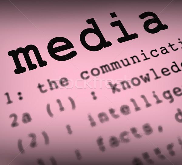 Média meghatározás közösségi média multimédia mutat újságírás Stock fotó © stuartmiles