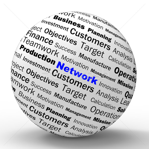 Network Sphere Definition Means Global Communications And Online Stock photo © stuartmiles