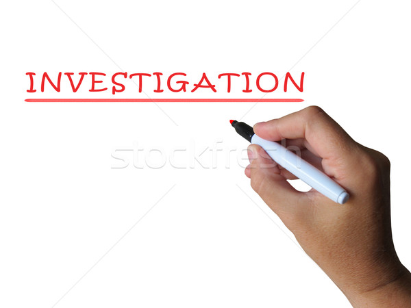 Investigation Word Means Examination Inspection And Findings Stock photo © stuartmiles