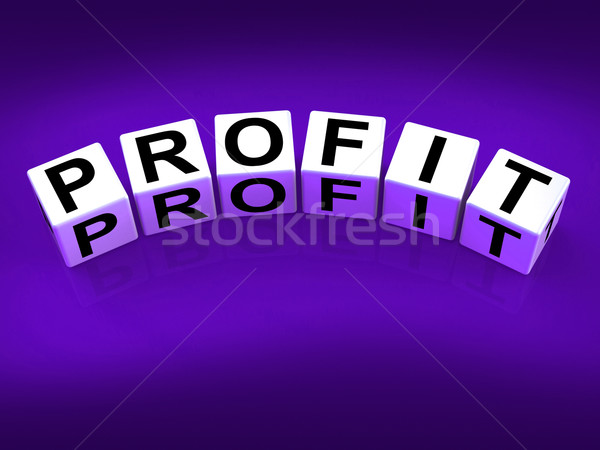Profit Blocks Show Success in Trading and Earnings Stock photo © stuartmiles