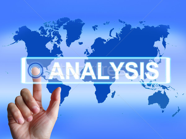 Analysis Map Indicates Internet or International Data Analyzing Stock photo © stuartmiles