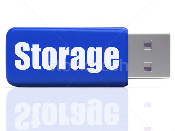 Storage Pen drive Shows Data Backup Or Warehousing Stock photo © stuartmiles