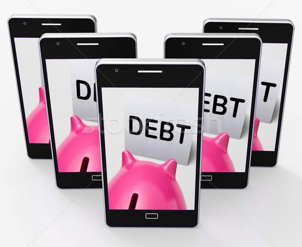 долг Piggy Bank заем смысл Сток-фото © stuartmiles