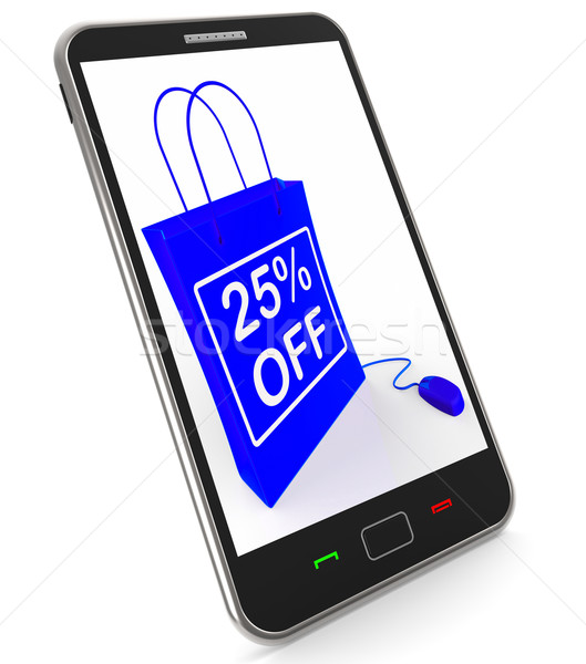 Twenty-five Percent Off Phone Shows Reductions in Price Stock photo © stuartmiles