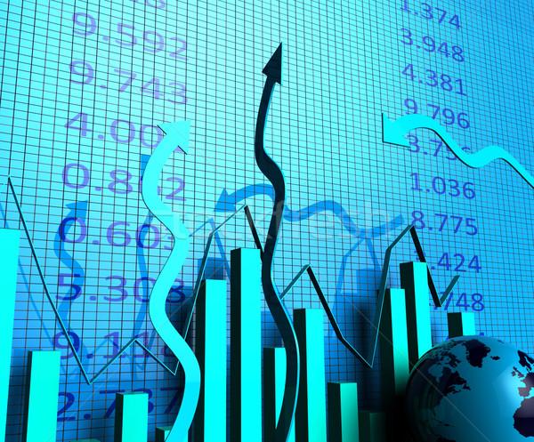 üzleti grafikon haladás jelentés mutat pénzügyi beszámoló statisztikai Stock fotó © stuartmiles
