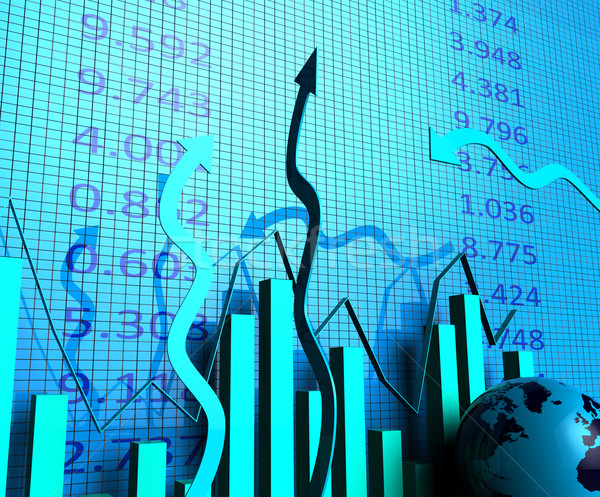 Business Graph Indicates Progress Report And Biz Stock photo © stuartmiles