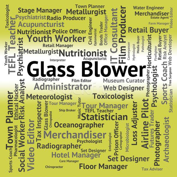 Vidrio soplador reclutamiento palabras trabajo Foto stock © stuartmiles