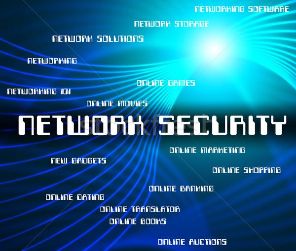 Hálózat biztonság magánélet WWW kapcsolat mutat Stock fotó © stuartmiles
