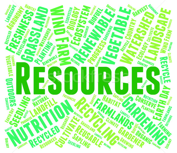 Resources Word Shows Raw Materials And Collateral Stock photo © stuartmiles