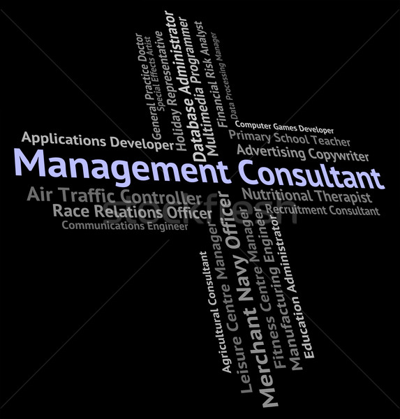 Management Consultant Indicates Position Executive And Managing Stock photo © stuartmiles