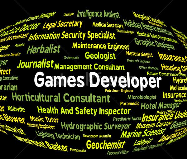 Játékok fejlesztő játék idő karrier foglalkoztatás Stock fotó © stuartmiles