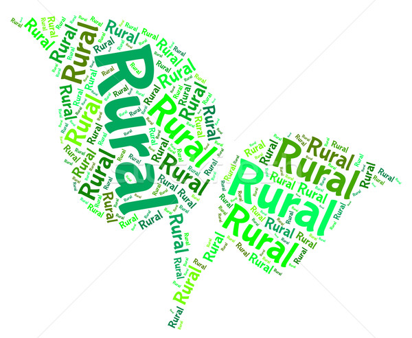 Rural Word Means Non Urban And Backwoods Stock photo © stuartmiles