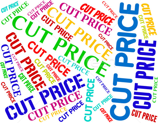 Stock photo: Cut Price Indicates Expense Reduce And Reduction
