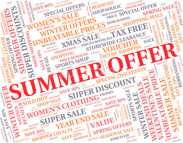 Summer Offer Means Reduction Summertime And Season Stock photo © stuartmiles
