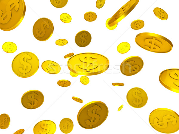Dollar Coins Shows United States And Bank Stock photo © stuartmiles