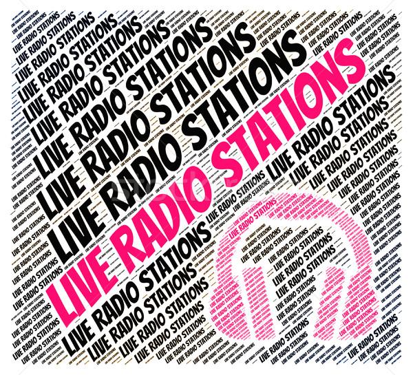 Live radio geluid media track kabel Stockfoto © stuartmiles