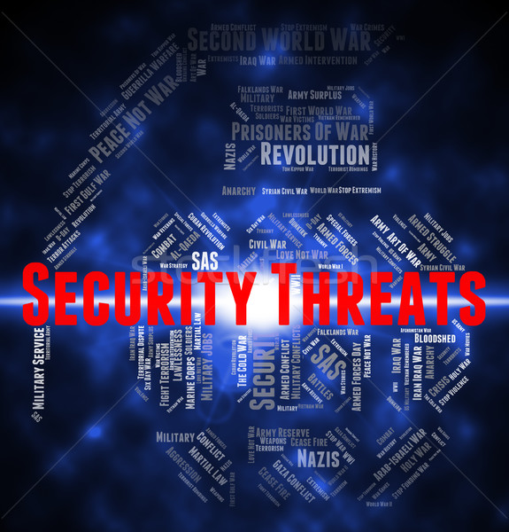 Security Threats Means Private Text And Menacing Stock photo © stuartmiles