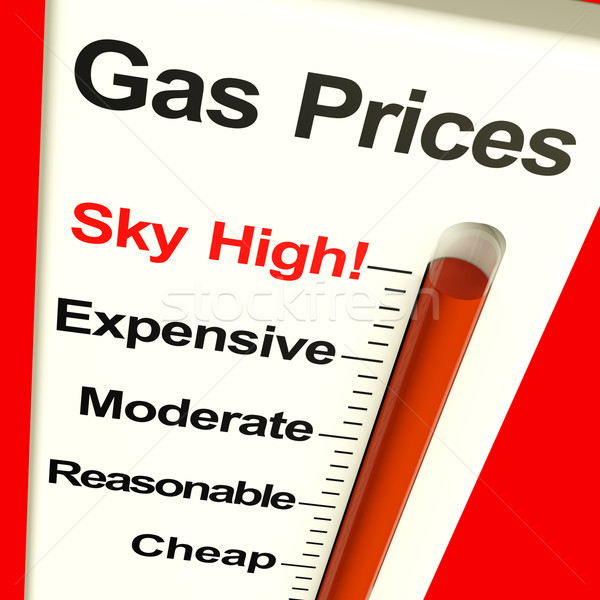 Gas Prices Sky High Monitor Showing Soaring Fuel Expenses Stock photo © stuartmiles