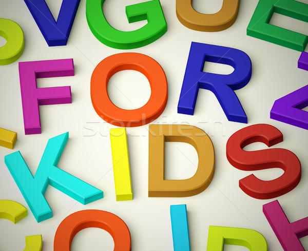 письма правописание дети символ детство детей Сток-фото © stuartmiles