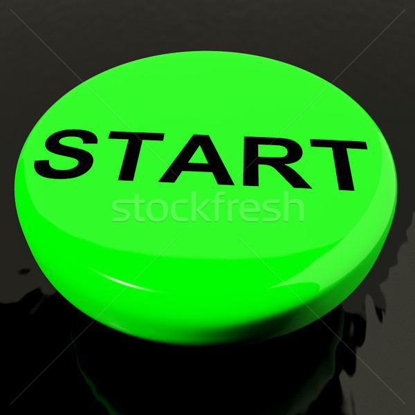 Start Button As Symbol For Control Or Activating Stock photo © stuartmiles