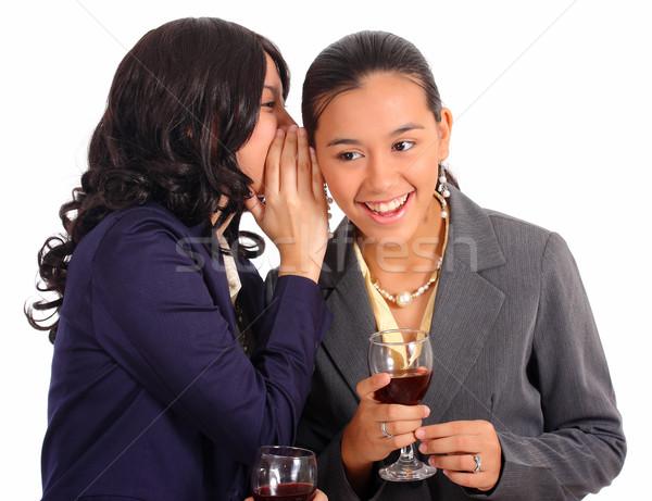 два женщины разделение тайну Секреты улыбка Сток-фото © stuartmiles